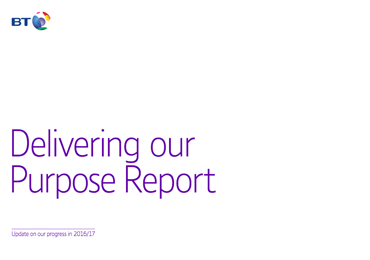 BT delivering our purpose report