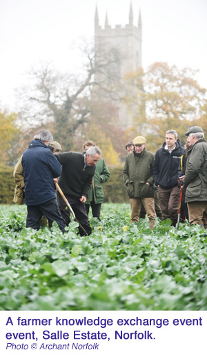 Farmer knowledge exchange event Salle Estate Norfolk  Archant Norfolk copy
