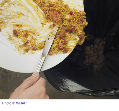 Waste food on plate copy