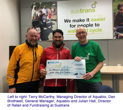 aquabio charity donate Sustrans copy