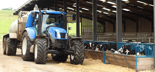 biomethane tractor cows
