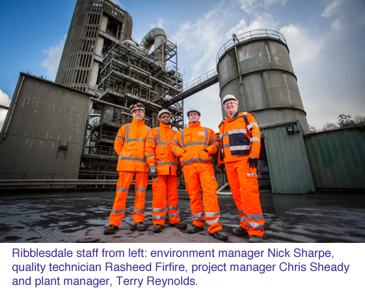 hanson Ribblesdale cement works investment copy