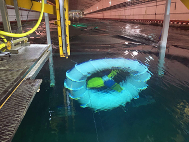 magnometics Tidal Turbine on Test