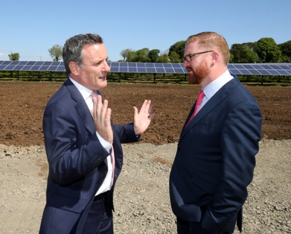 Belfast Airport generates a quarter of its energy from nearby solar