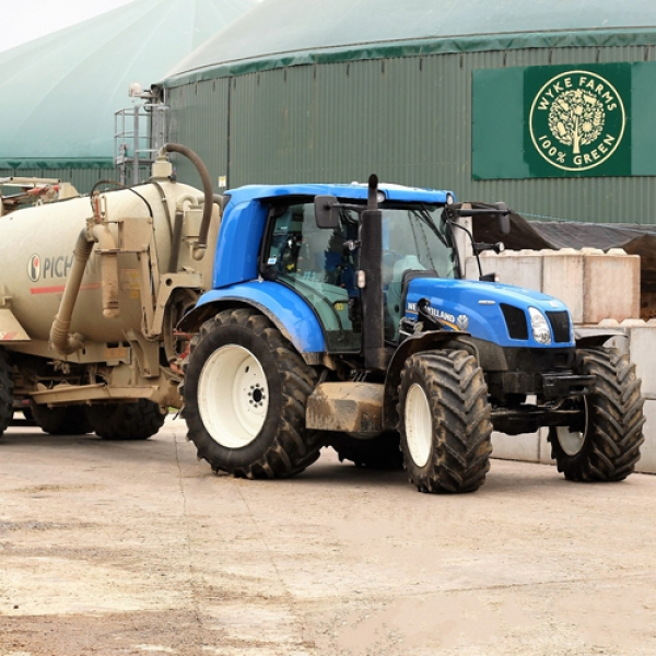 Famous Somerset farms test biogas tractors running on agri-waste