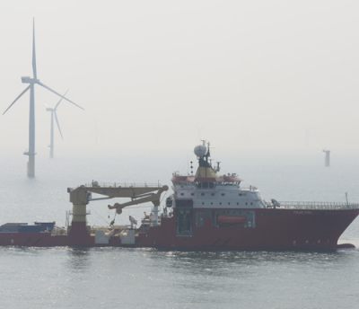 Cables laid on Liverpool Bay for Gwynt y Mor windfarm
