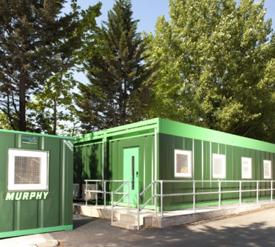 Murphy's construction staff take well to workplace eco cabins