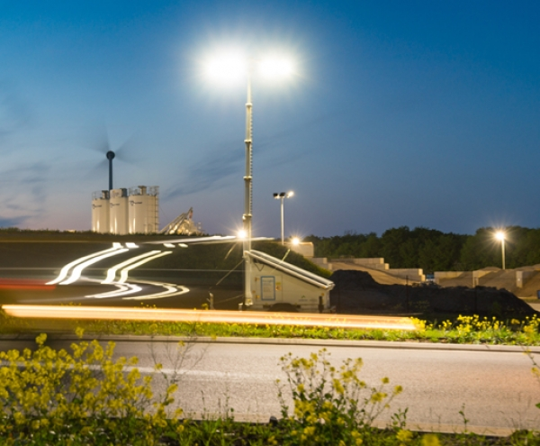 A14 highway improvement's diesel ditched for solar to power temp lighting