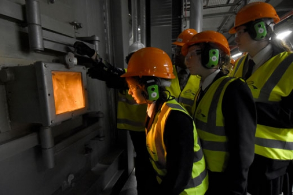 Schools career-inspired by tour of waste to energy plant