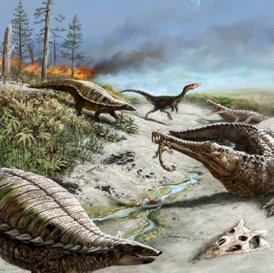 Massive carbon levels kept large dinosaurs from tropics for 30 million years