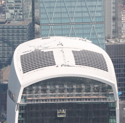 Challenges of installing solar on London's 'Walkie Talkie' skyscraper roof