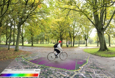 Cyclists can plot least polluted routes thanks to partnership