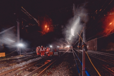Welsh rail renewal project was 97% diesel-free saving 15 tonnes of carbon