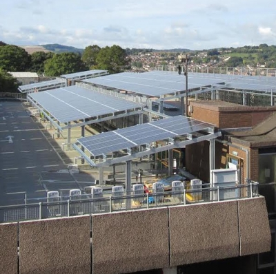 Exeter multi-storey car park's bag awards for combining cars and solar