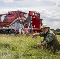 Bill Oddie backs fun campaign to spot green beast waste lorries