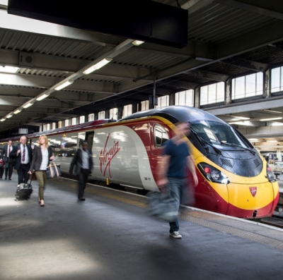 Virgin uses energy efficient lights for its Pendolino trains