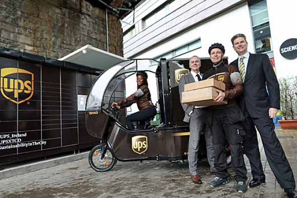 UPS and Trinity College partnership will reduce Dublin diesel van deliveries