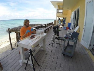 Youngsters study live underwater coral reefs without getting wet