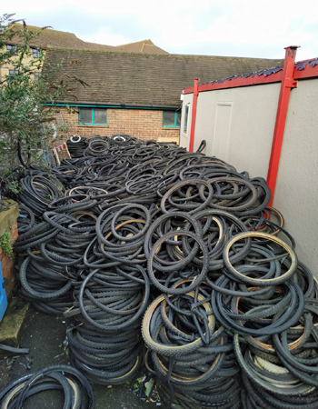 bicycle tyre recycle scrap 4